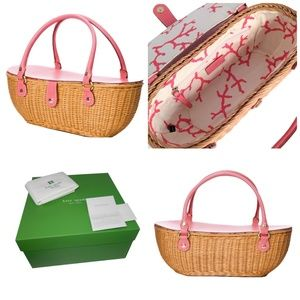 New Kate Spade Her 2005 Collection Wicker Bag WOW